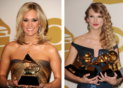 Carrie Underwood e Taylor Swift: duas das mulheres mais elegantes do Grammy 2010