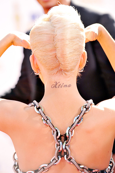 Detalhe do penteado de Christina Aguilera|Getty Images