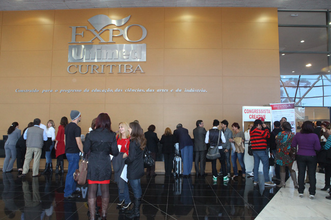Entrada do Expo Unimed, onde foi realizada a Expor BSG World