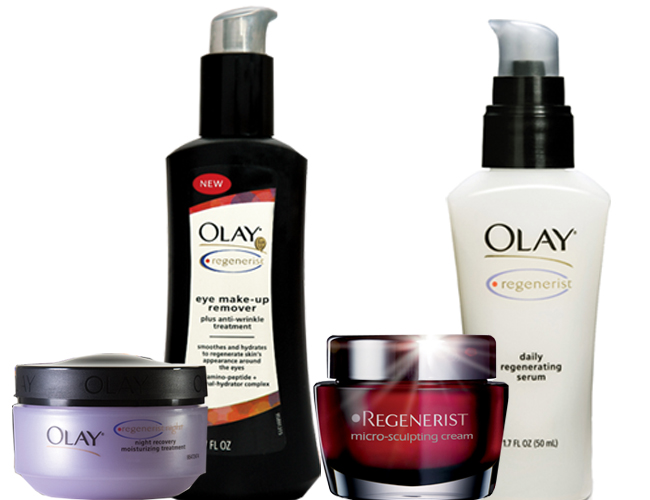 Olay Regenerist: creme noturno, removedor de maquiagem para área dos olhos, creme micro-sculpting, serum daily regenerating|Alberto Foco