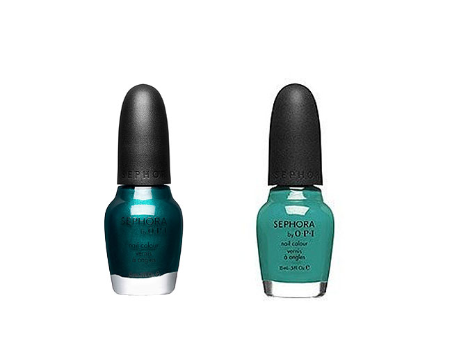 Esmaltes Sephora by O.P.I. Teal We Meet Again e Ocean Love Potion.www.sephora.com|Divulgação