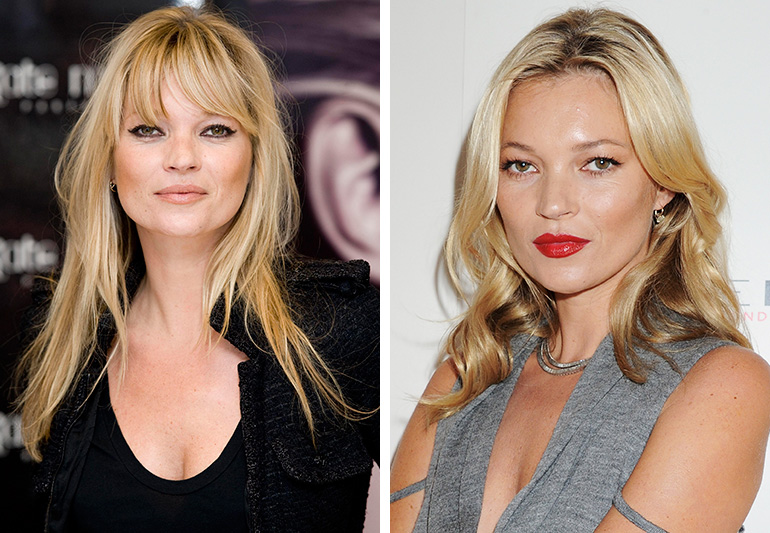 Os looks da top model Kate Moss