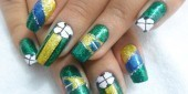 Unhas decoradas para a Copa do Mundo